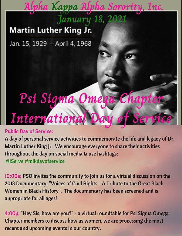 Psi Sigma Omega International Day of Ser