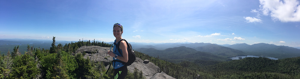 Clare at the top of Ampersand