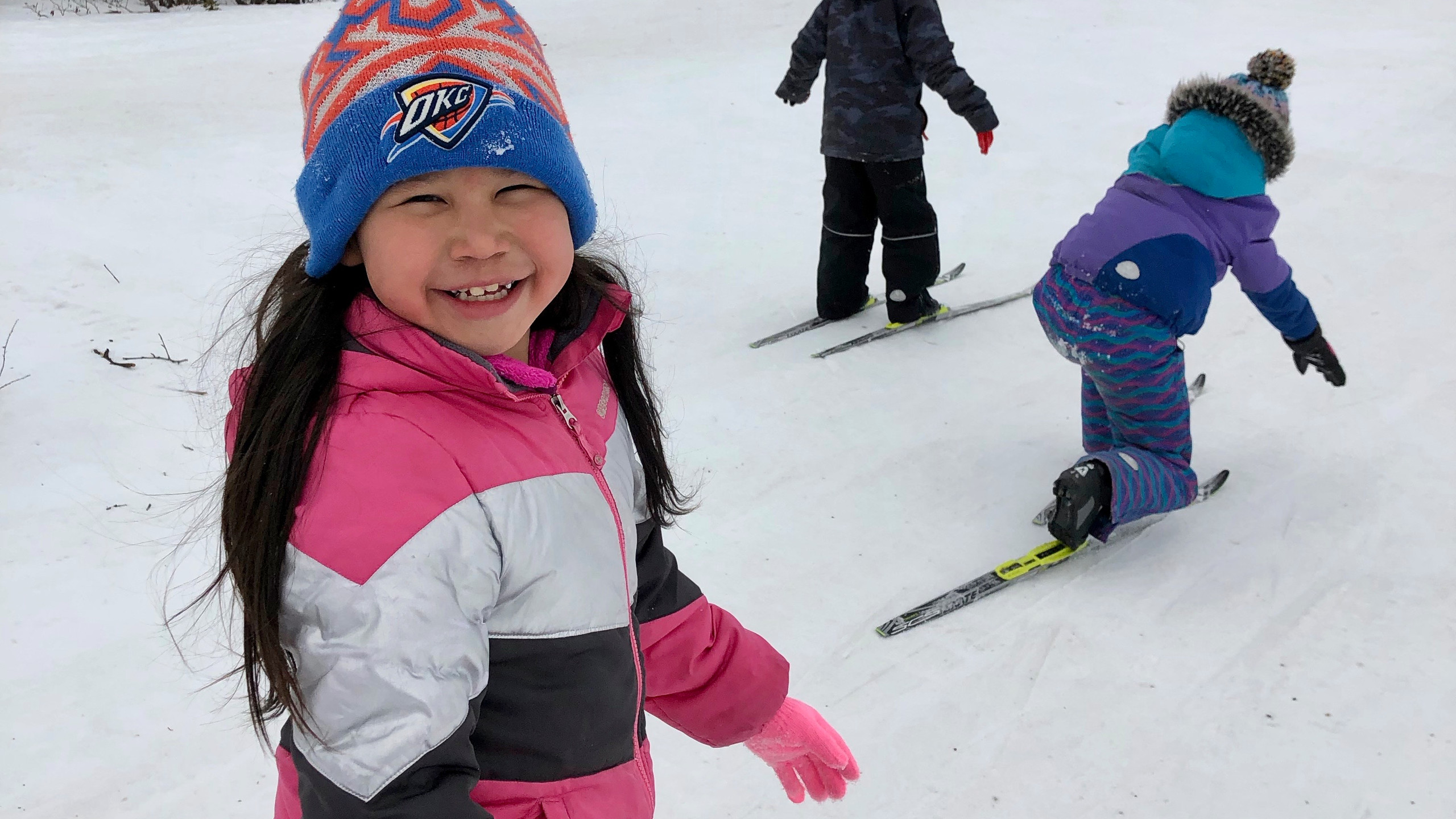 Ramona knows that skiing and smiling go hand-in-hand