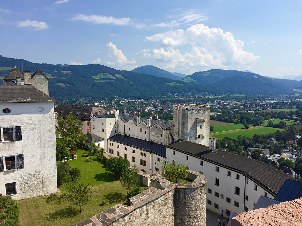 Looking out from the highest point of the castle in Salzburg