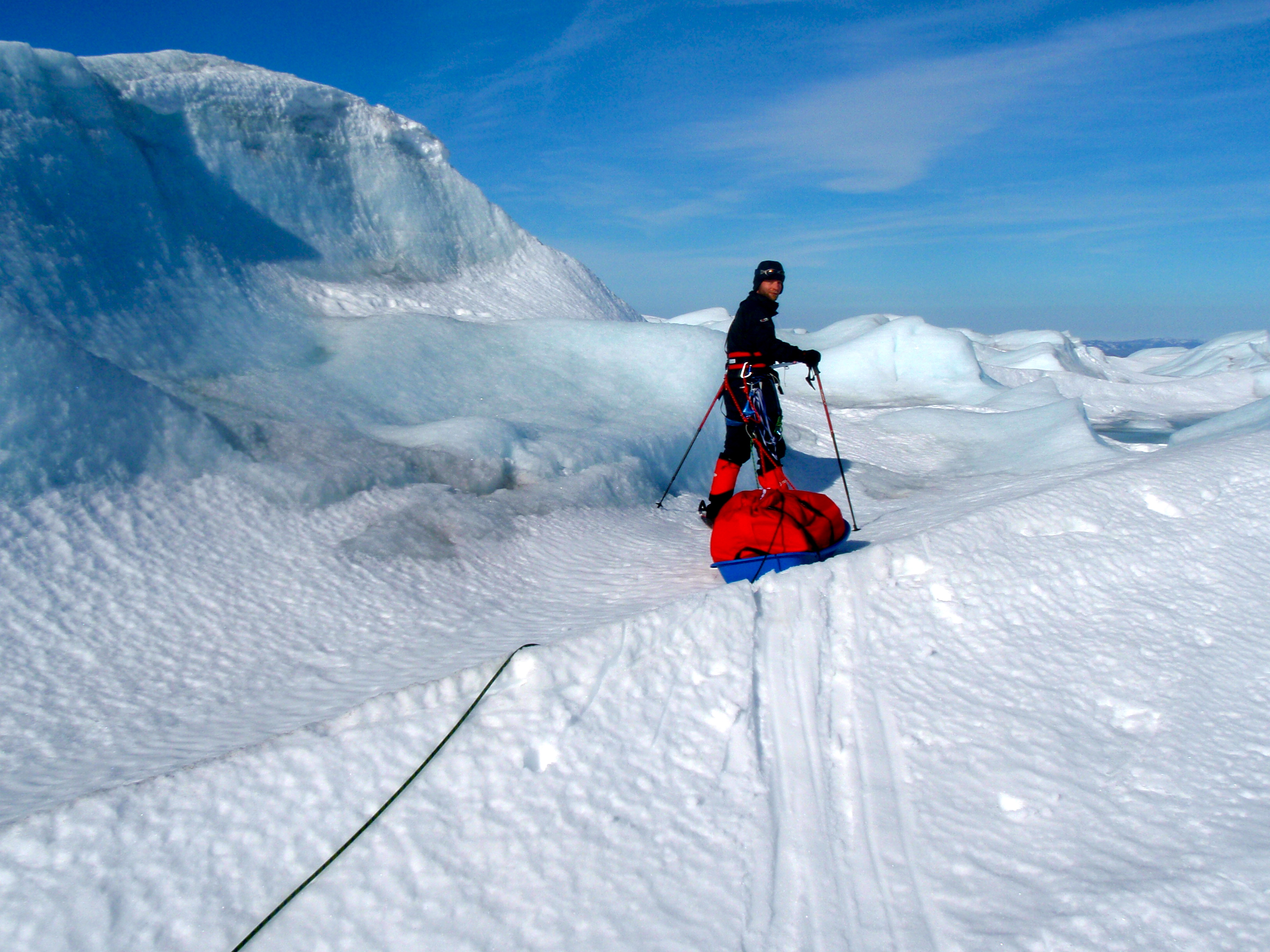 Ice walls in Greenland
