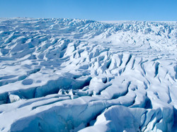 Greenland. Crevasses that could swallow a house