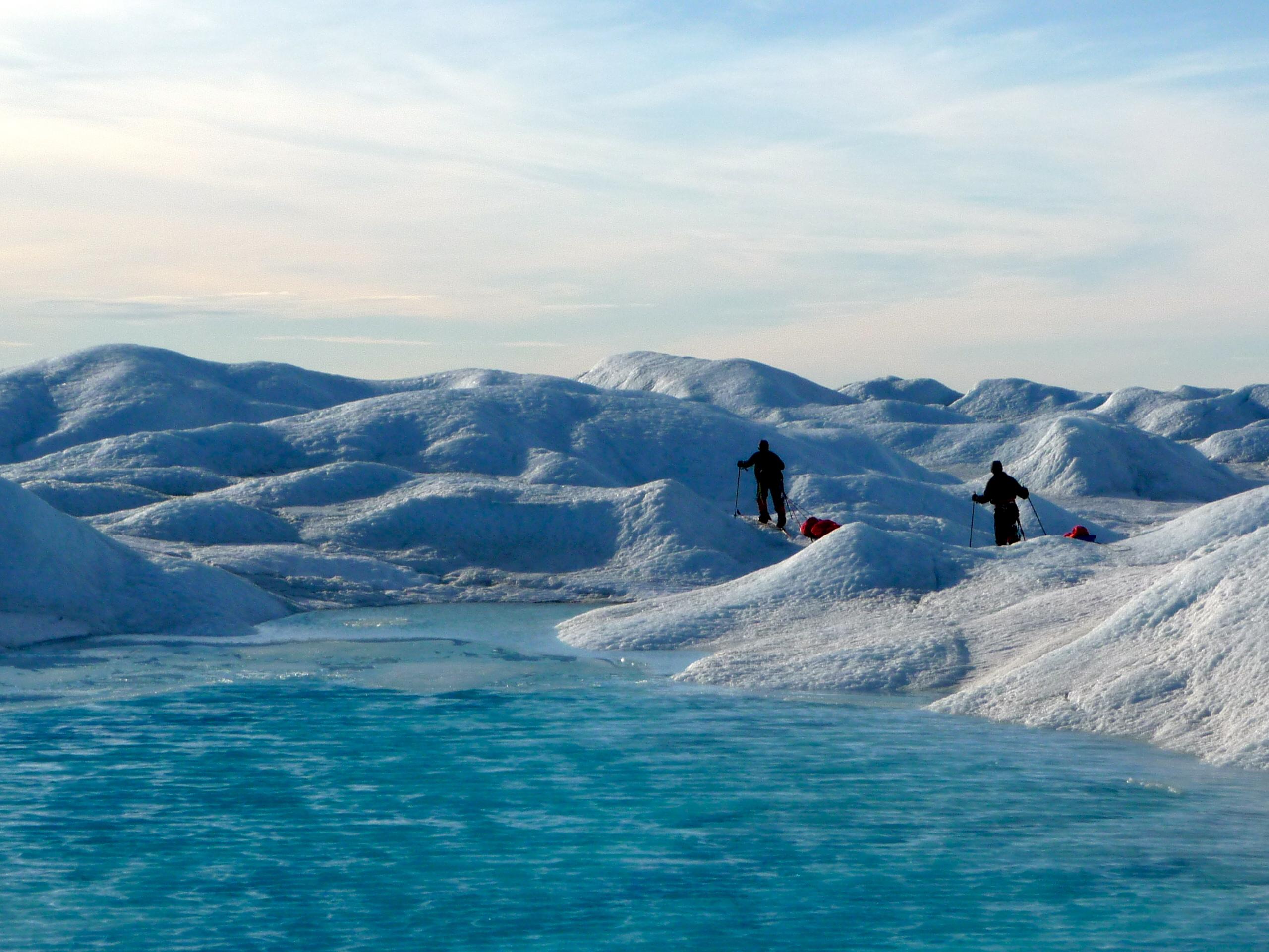 Navigating crevasses in Greenland