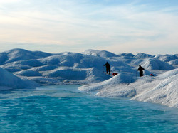 Navigating crevasses in Greenland