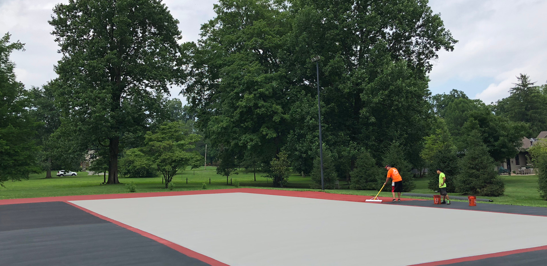 SPORTS COURT IN PROGRESS.