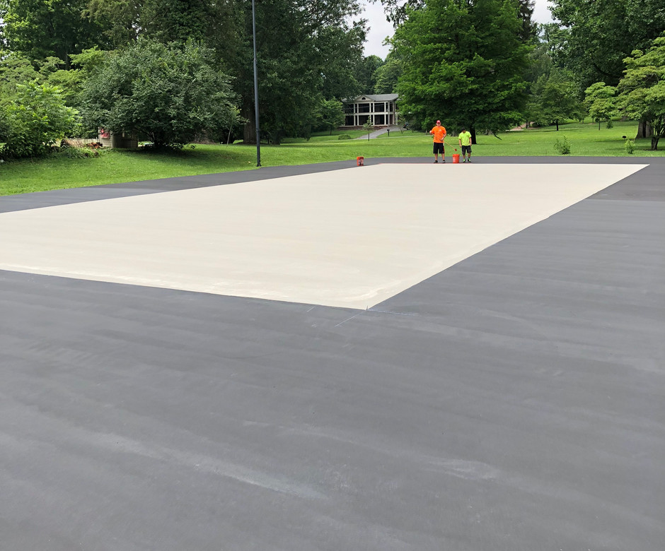 SPORTS COURT - PREP BEFORE NEW COLORS.