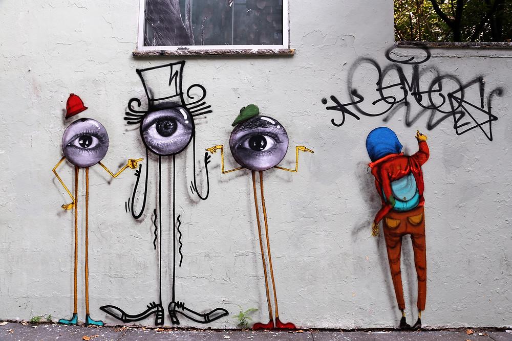 Os Gemeos, JR, Baron Andre (2015)