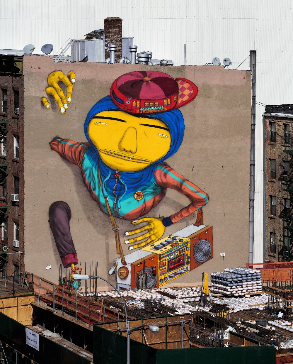 Os Gemeos, Second Ave (2015)