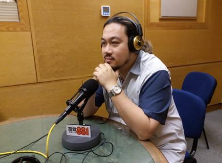 本港畫家黃學豐(Bernard)擔任商業電台節目《有誰共鳴》嘉賓主持