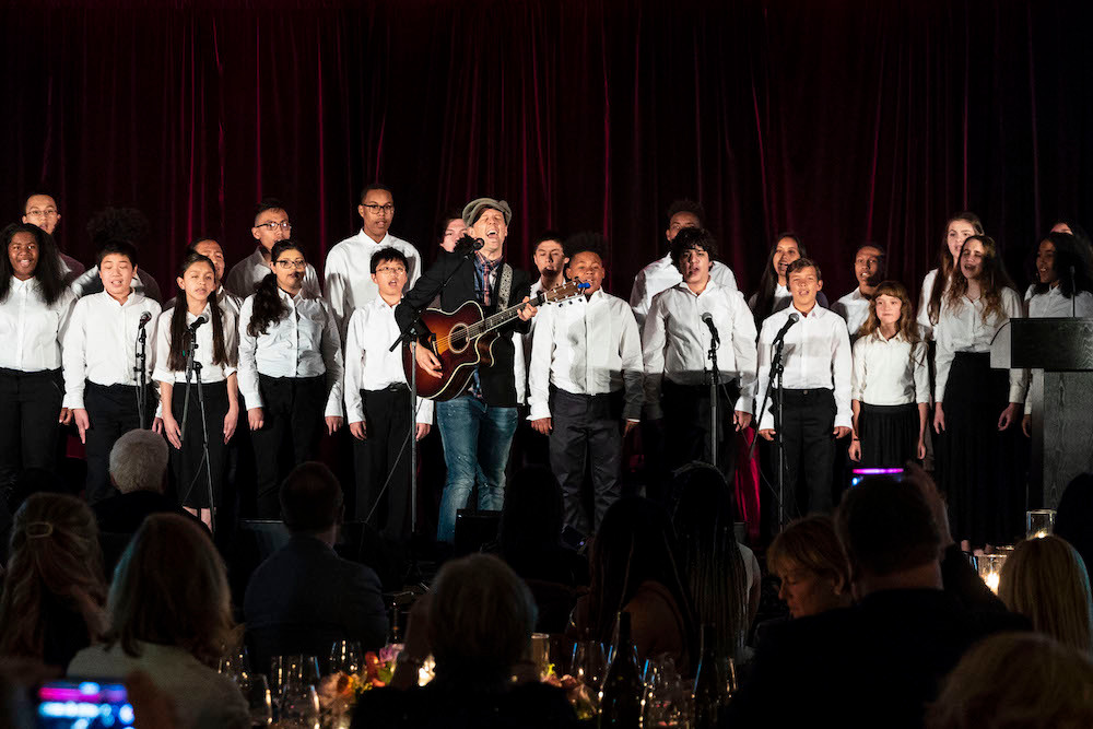 """YMCO performed """"I Won't Give Up"""" with Artist Jason Mraz at the 2018 Find Your Light Foundation!"""