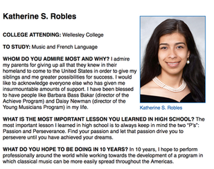 2013 YMCO Graduate Katherine Robles