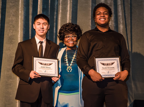 Our Top Gun GPA Award went to both Taijee and Jerry for their outstanding 4.67 GPA. Jerry will be attending Northwestern University on an $80,000/year scholarship, and Taijee will attend the Berklee College of Music on a full scholarship. Congratulations!