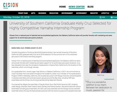 2013 YMCO Graduate Kelly Cruz