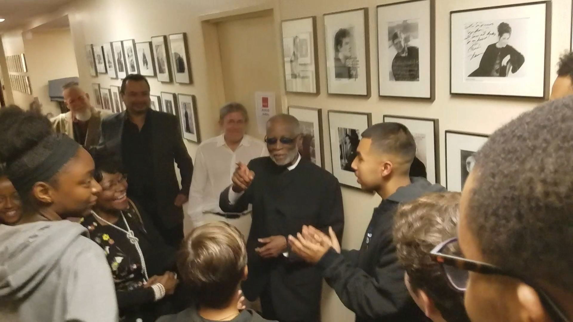 Backstage with Ahmad Jamal!
