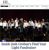 """YMCO performed """"You Raise Me Up"""" with Josh Groban and """"I Won't Give Up"""" with Jason Mraz at the 2018 Find Your Light Foundation."""