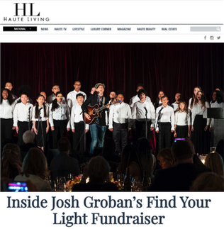 "YMCO performed ""You Raise Me Up"" with Josh Groban and ""I Won't Give Up"" with Jason Mraz at the 2018 Find Your Light Foundation."