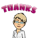 Image is a bimoji rendering of Deah saying Thanks for the email.