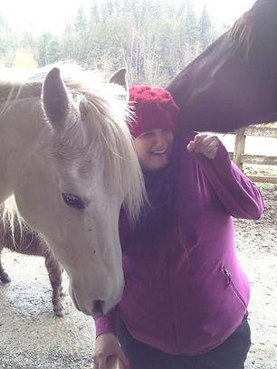 Image of 2 horses and a young woman at H3-HopeHorsesNHeroes, Monroe WA