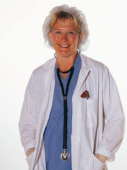 Image of young female physician symbolizing having a high stress job