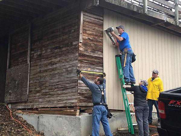 Image of YMCA volunteers at H3-HopeHorsesNHeroes, Monroe WA
