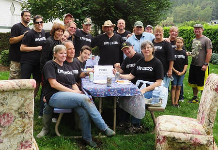 Image of United Way of Snohomish County volunteers at H3-HopeHorsesNHeroes, Monroe WA