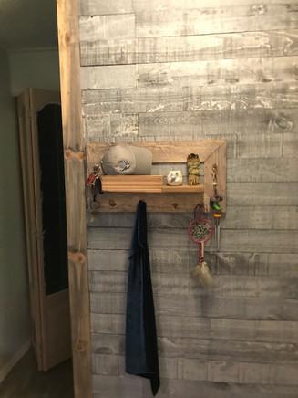 Rustic entry Wall & Custom Organizer