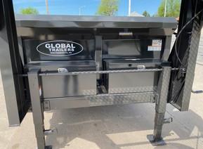 2022 Global Equipment Company 14' HD Gooseneck Dump Trailer