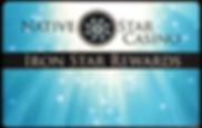 native star casino, iron star rewards card