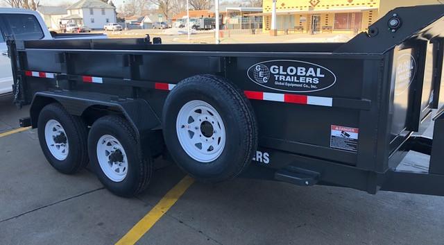2021 Global Equipment Company 14' Dump Trailer