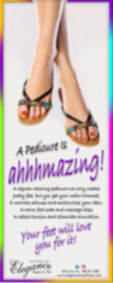 Elegance head to toe, foot scrub, pedicures,
