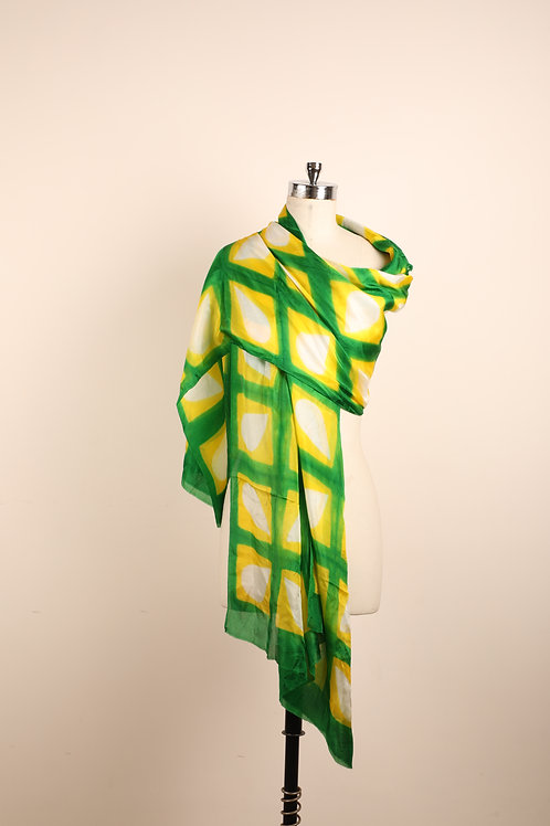 Yellow green clamp dyed