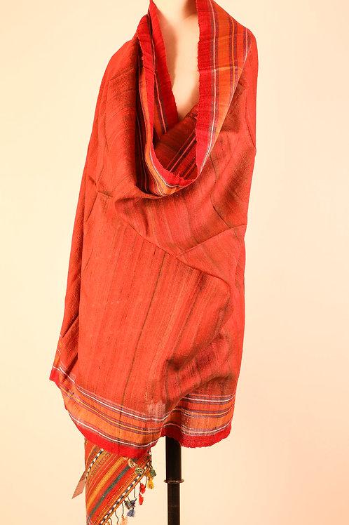 Tussar Silk Red Dupatta