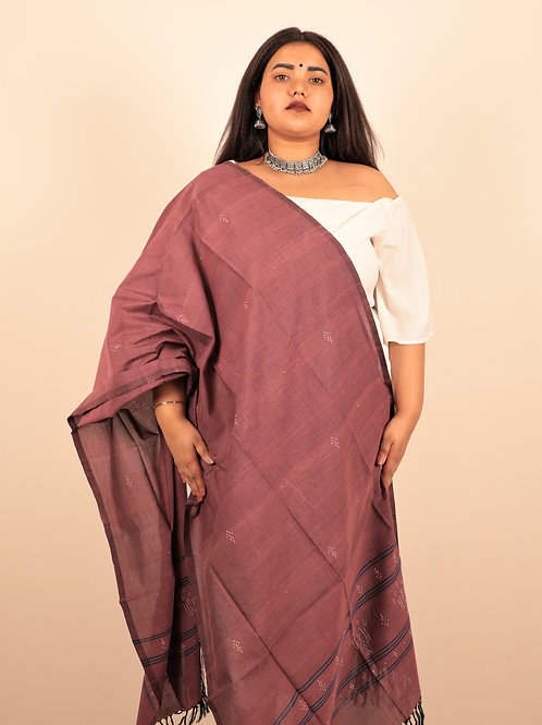 Faded Eggplant Stole