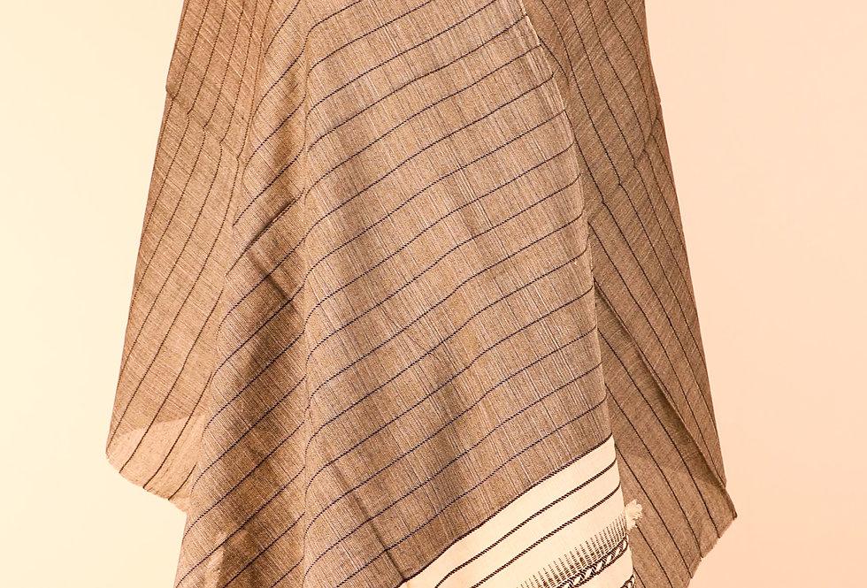 Kutchhi Bhujodi Grey Stole