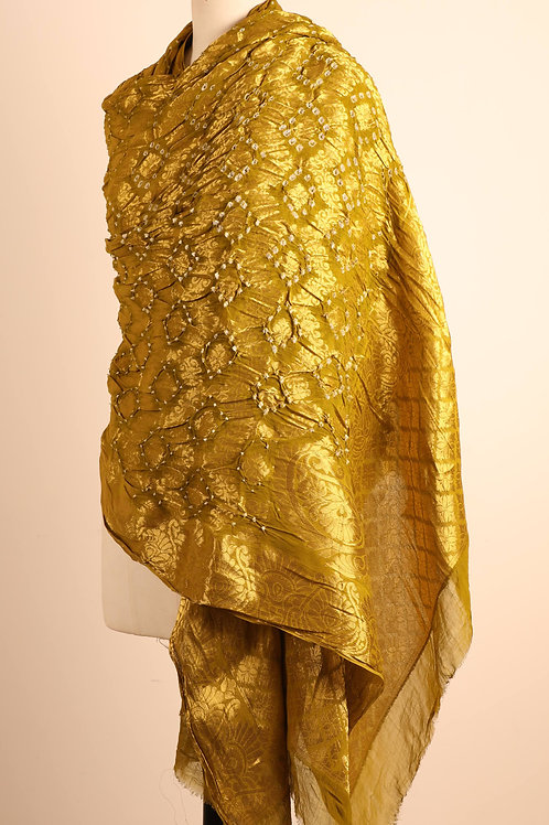 Golden Banarasi Art Dupatta