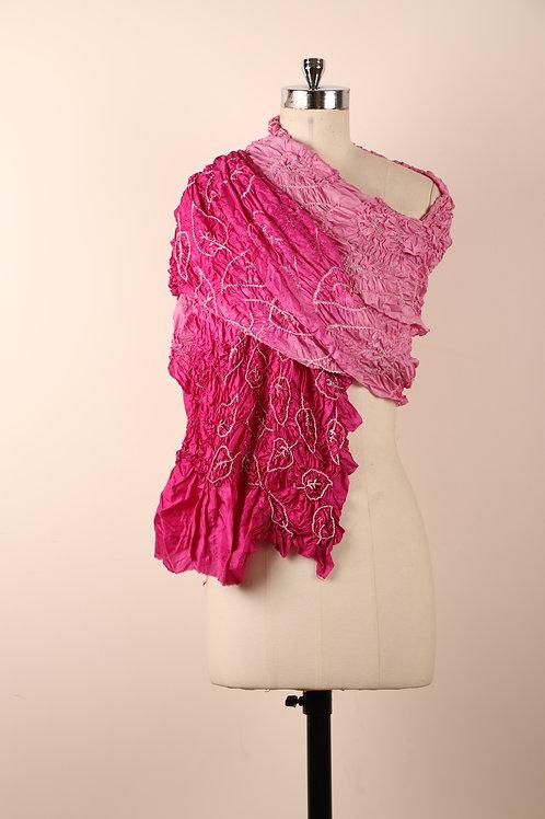 Pink bandhani