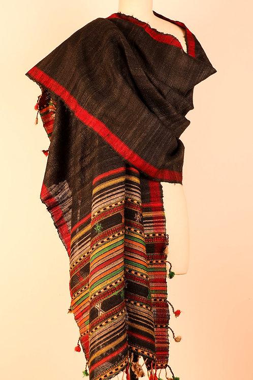 Black Tussar Silk Dupatta