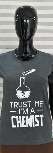 Camiseta Mescla grafite Química