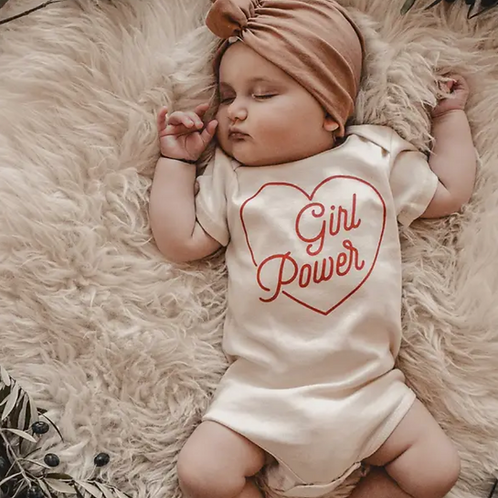 Organic Cotton Baby Onsie- Girl Power