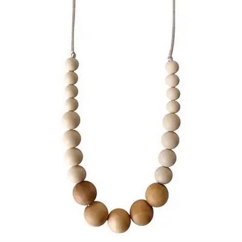 Silicone Teether Necklace-Natural