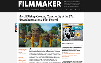 FILMMAKER Ciara Lacy Hawaii Rising Out of State