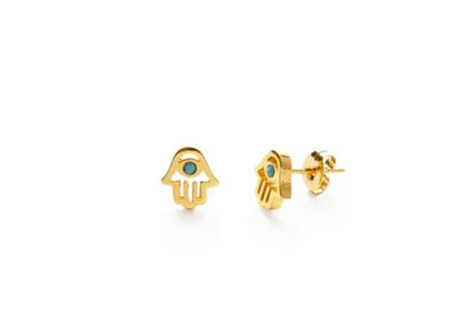 Hamsa Hand Stud Earrings