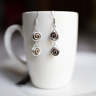 Double Espresso Earrings