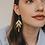 Thumbnail: Cascading Leaf Dangle Earrings