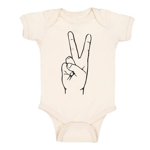 Peace Baby Onsie- Organic Cotton