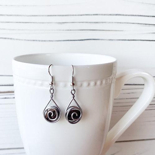 Coffee Bean Earrings-Single Espresso