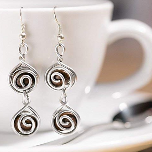 Coffee Bean Earrings-Double Espresso