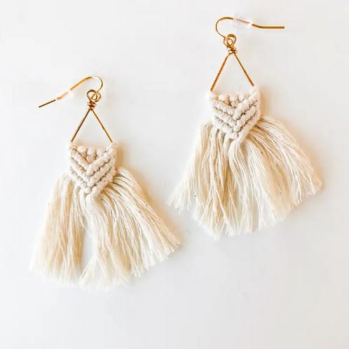 Macrame Fringe Earrings