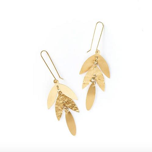 Cascading Leaf Dangle Earrings