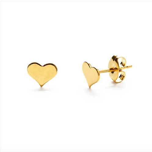 Heart Stud Earrings | Silver or Gold